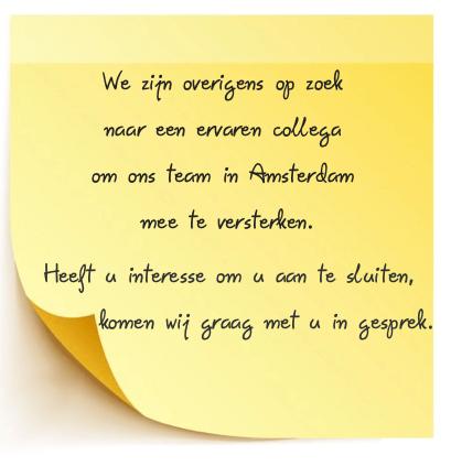 Mediator voor echtscheidingen regio Amsterdam gezocht