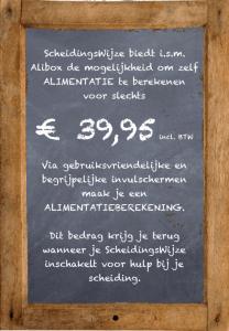Alibox programma om alimentatie te berekenen